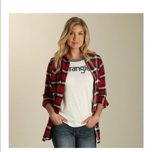 Wrangler Plaid Boyfriend Flannel Shirt